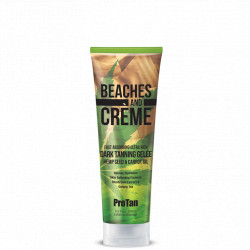 Beaches and Crème Fast Absorbing Ultra Rich Dark Tanning Gelée Hemp Seed & Carrot Oil